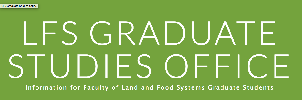 grad studies banner